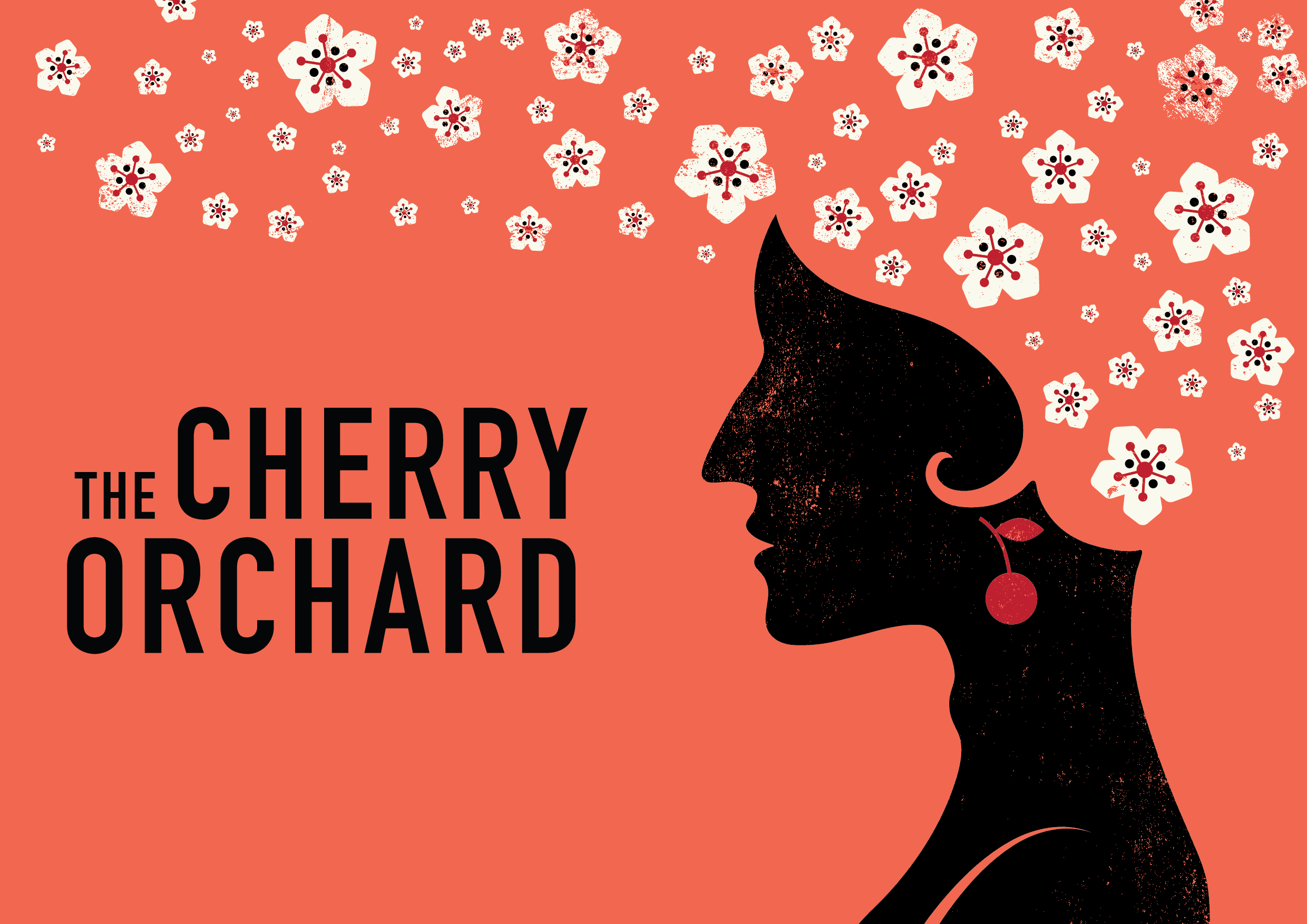 Tour poster for The Cherry Orchard