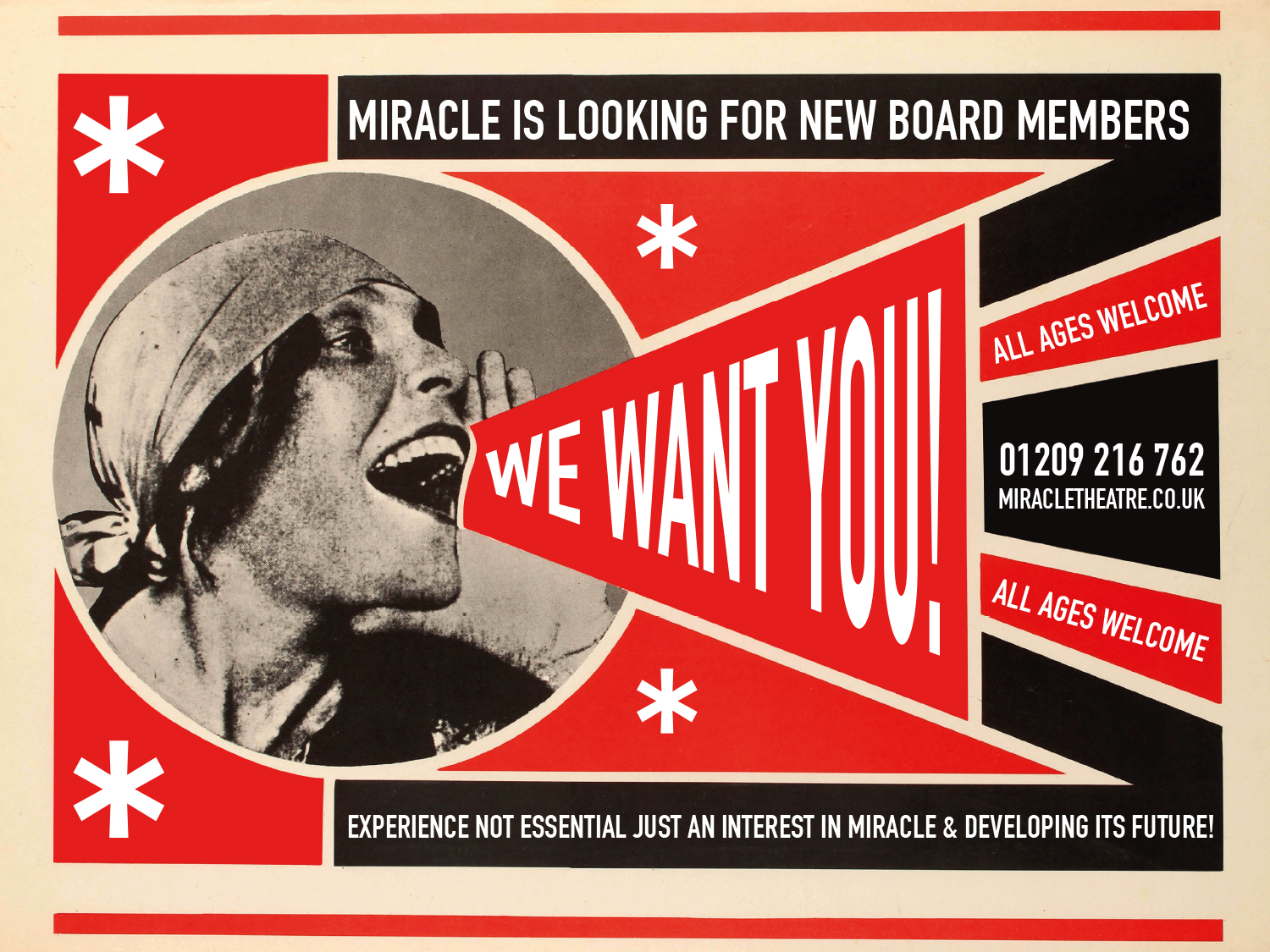 We're looking for board members! <br /> Click here to find out more...