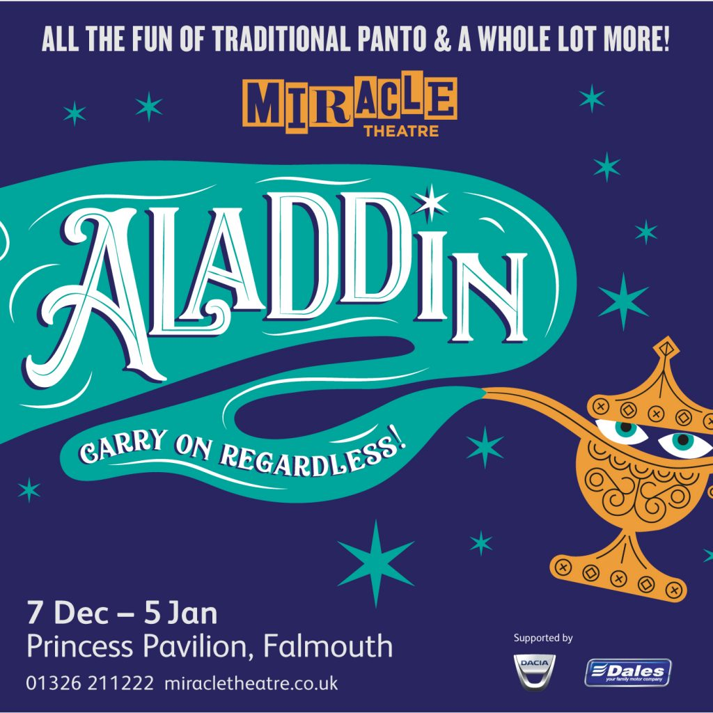 Aladdin Miracle Theatre Pantomime Christmas Falmouth Cornwall Comedy
