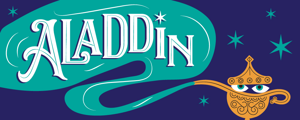 Tour poster for Aladdin